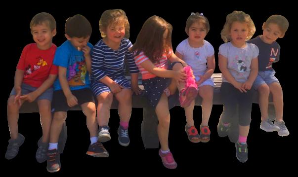 sitting children